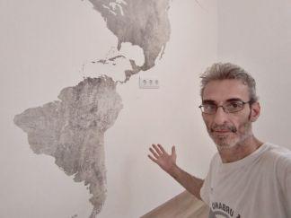 Colocacion de papel pintado mapa mundial (10)