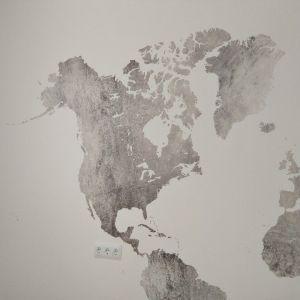 Colocacion de papel pintado mapa mundial (24)