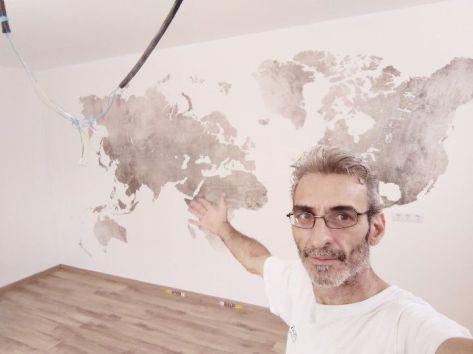 Colocacion de papel pintado mapa mundial (6)