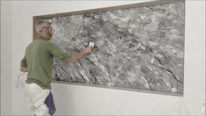 Aplicando cera al Estuco Marmol Coslada 1