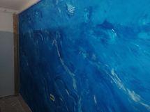 1 mano de Estuco Marmol Azul 2