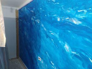 2 mano de Estuco Marmol Azul 2