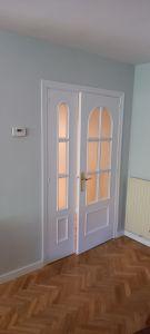 Lacado de puertas blanco y plastico liso gris con veloglas (18)