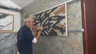 Estuco Marmol Piedra con vetas