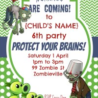 Party Invitation {Plants vs Zombies}