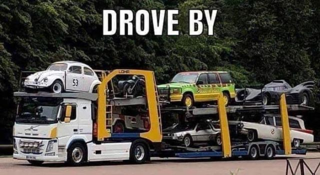 Car Transporter with My Childhood in Tow PinXcars