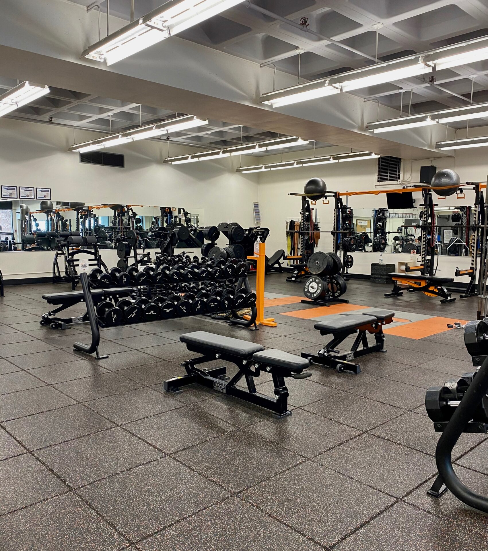 Photograph of empty Lewis & Clark weightroom.