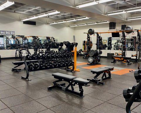 Photograph of empty Lewis & Clark weightroom.