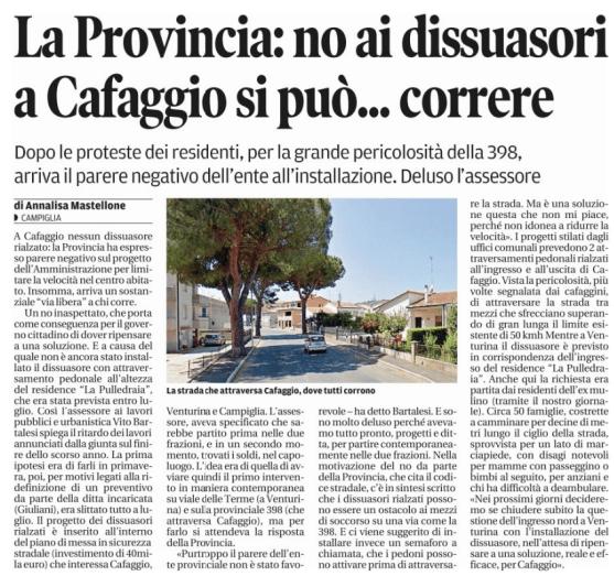 09 agosto: dissuasori Cafaggio