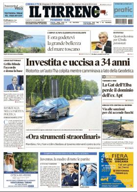 2017.06.03 scontro in geodetica - prima pagina