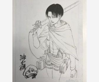 【悲報】進撃の巨人のリヴァイの落書き、350万円で落札wwwww
