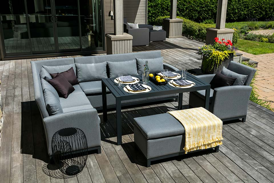 Modena Collection- Upholstered Fabric- Outdoor Patio