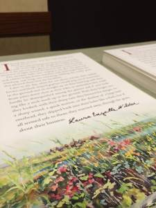 Awards dinner attendees received a special, limited-release broadside with a facsimile signature that commemorates Pioneer Girl: The Annotated Autobiography.