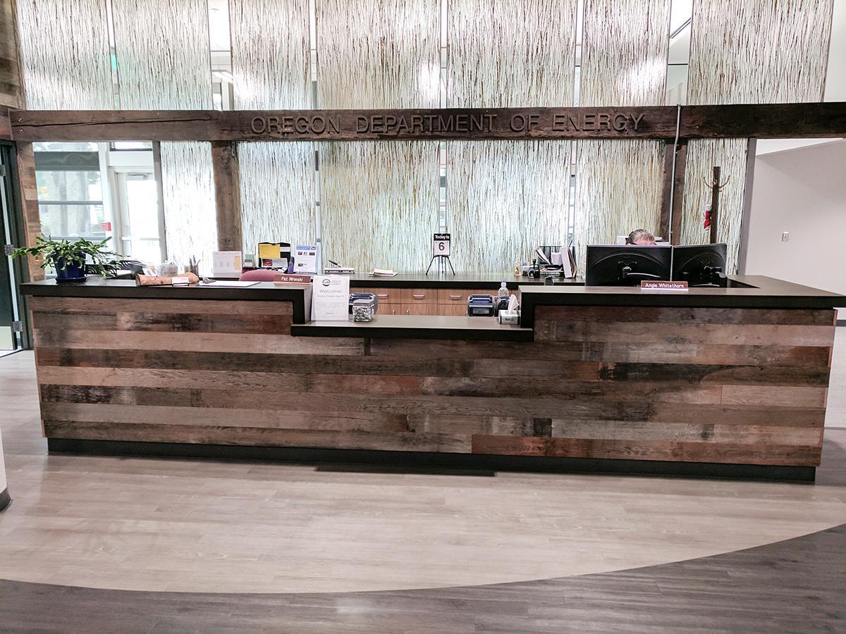 reception desks and bar fronts