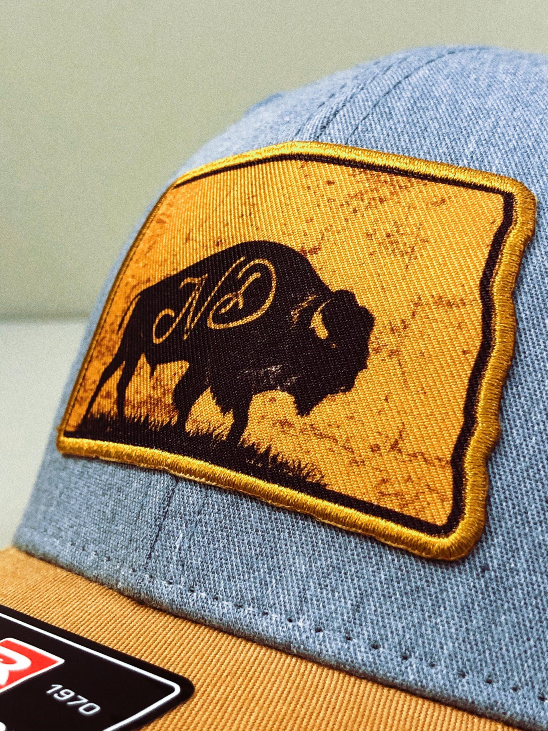 North Dakota Hat, Bison Patch