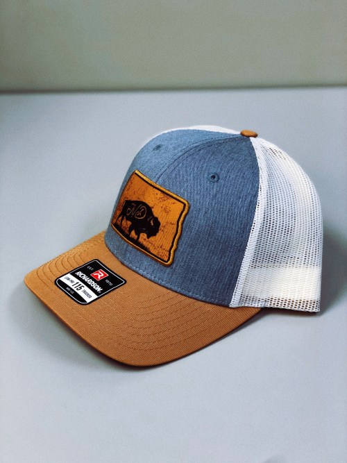 North Dakota Hat, Bison Side Angle