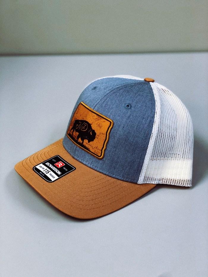 North Dakota Hat, Bison Side Angle