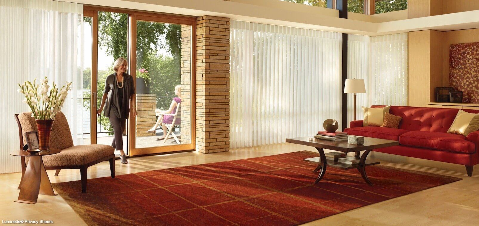 Luminette Privacy Sheers - Stria - Living Room