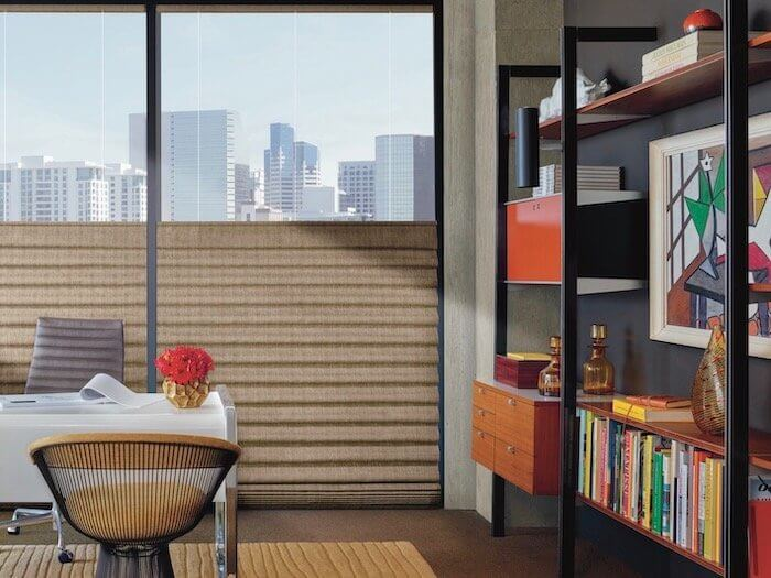 Aluminum Vignette Shades, Stacking PowerView - Office