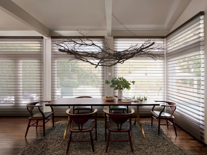 Silhouette PowerView Brio Dining Room