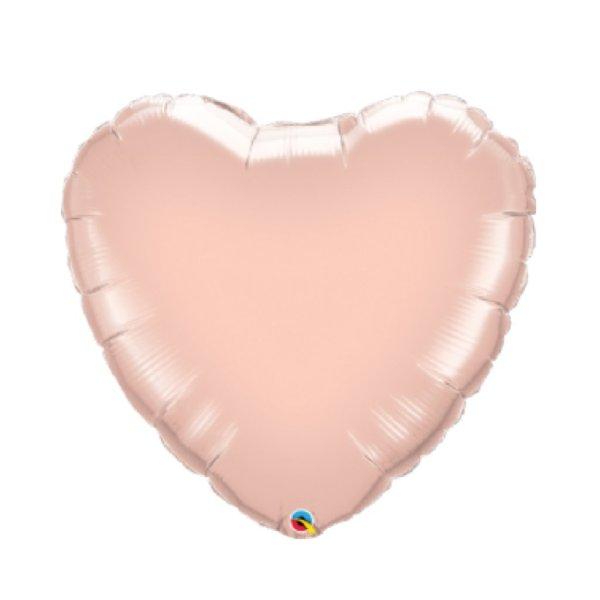 corazon oro rosa