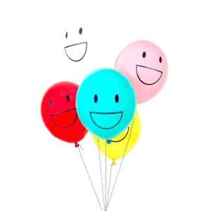 globos smiley de colores online