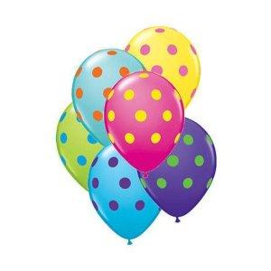 globos con lunares de colores para fiestas madrid