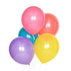 pack de 10 globos multicolor para cumpleaños