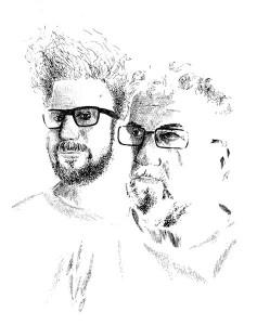 Richard Fairgray and Terry Jones