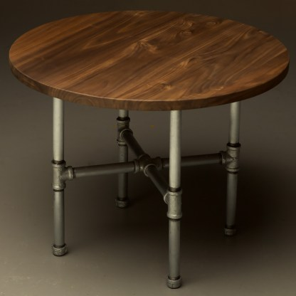 Industrial Plumbing Pipe Small Round Coffee Table