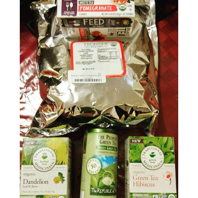 Tea Haul #TraditionalMedicinals #FullCircle #FrontierCoop #RepublicOfTea #Pomegranate #WhiteTea #GreenTea #Tea #LooseLeafTea #LooseLeaf #Dandelion #Hibiscus