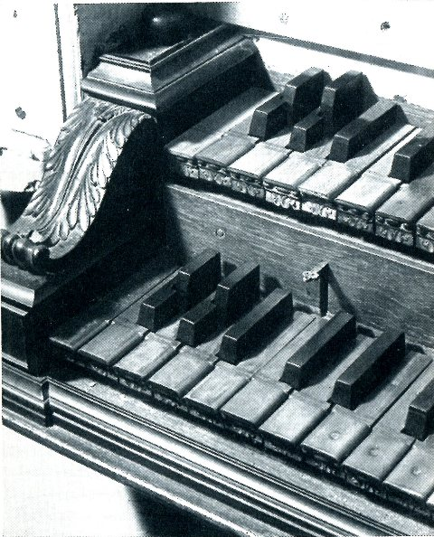 Short octave detail - Cappel organ in 1958, photo from Klingende Schätze Orgeln zwischen Elbe und Weser