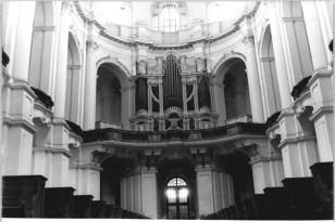 Hofkirche organ in 1971, photo by Horst Sturm