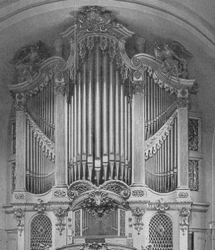 Frauenkirche organ, photo from Deutsche Fotothek