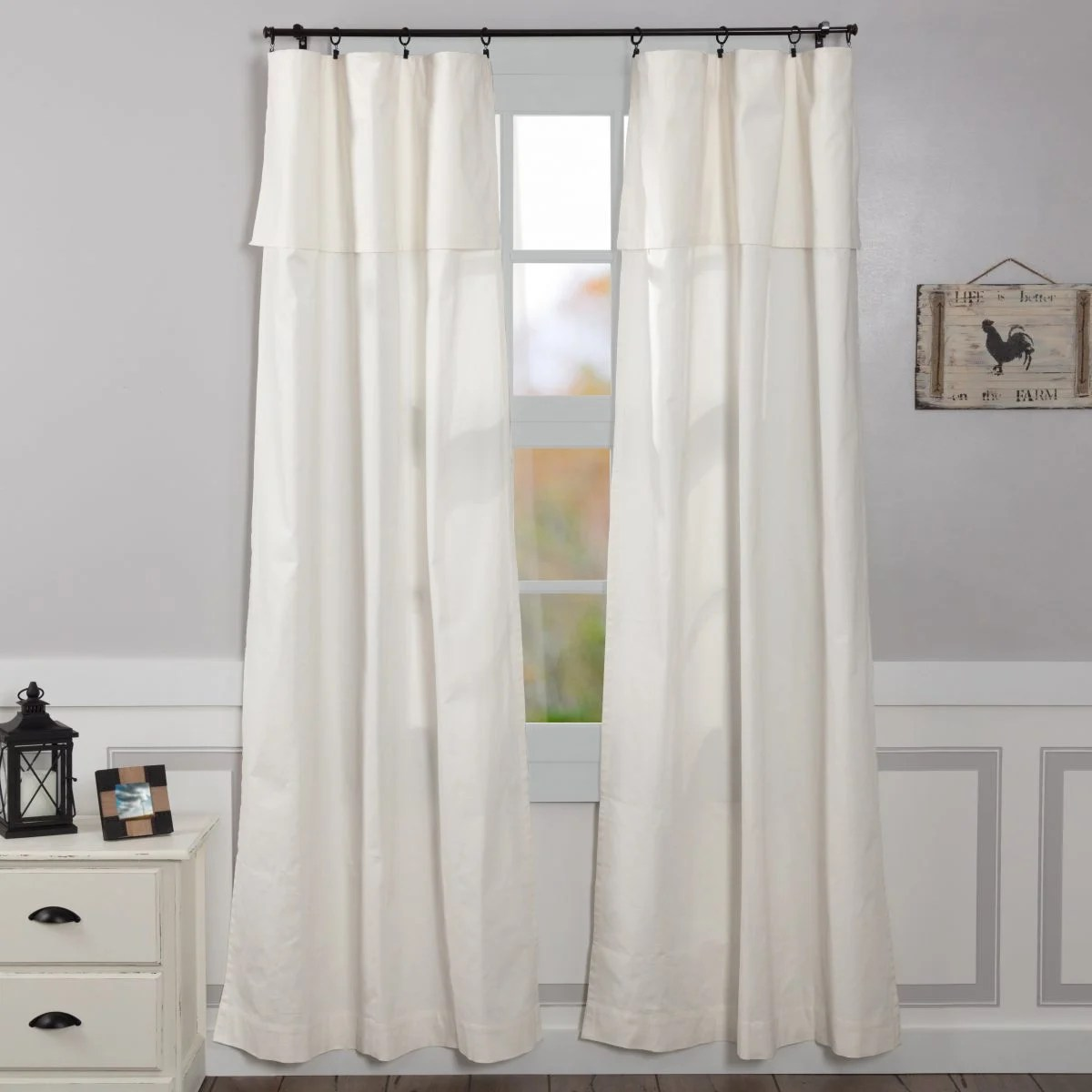 Silo Hill Drop Cloth Valance Panels