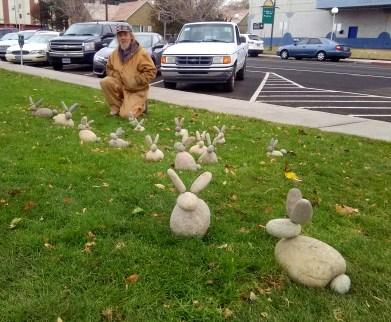 Cyrus and his bunnies