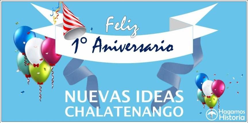 Ven a celebrar! primer año de vida, habran muchos premios y sorpresas. Noviembre 3, 1:30 en adelante. Chalatenango!