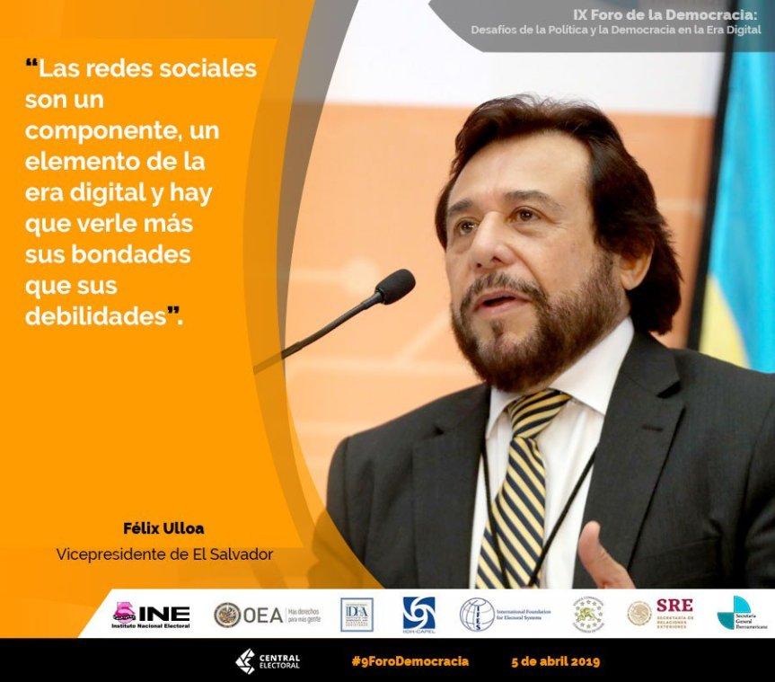 Dr. Félix Ulloa: «Desafíos de la política y la Democracia en la Era Digital» IX foro de la Democracia Latinoamericana