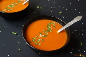 Roasted Red Pepper Carrot Soup Instant Pot Pressure Cooker