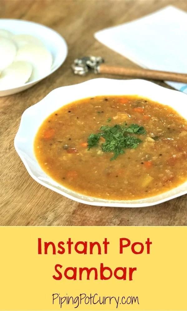 Sambar Instant Pot Pressure Cooker