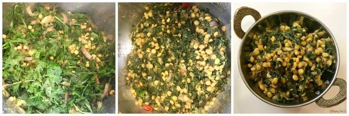 Kale Chana Dal Instant Pot Steps 2