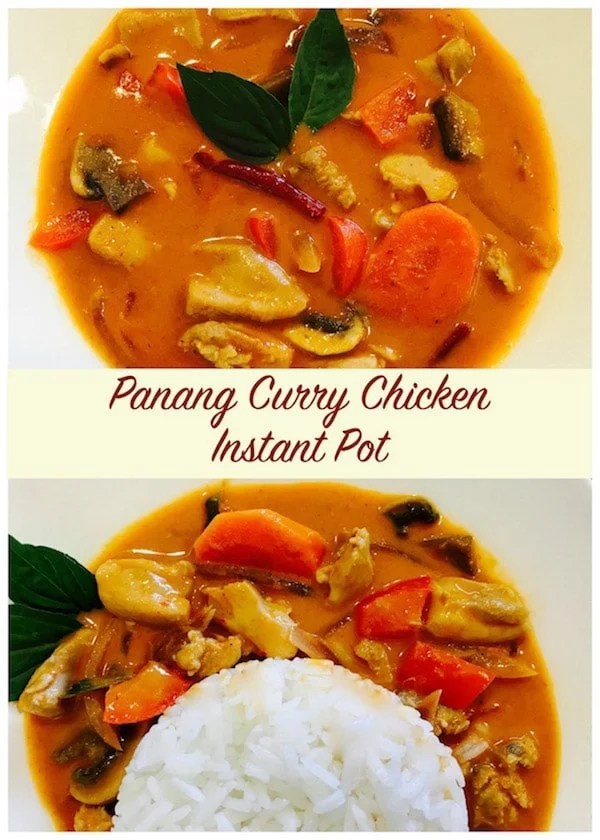 Panang Curry Chicken Instant Pot Pressure Cooker