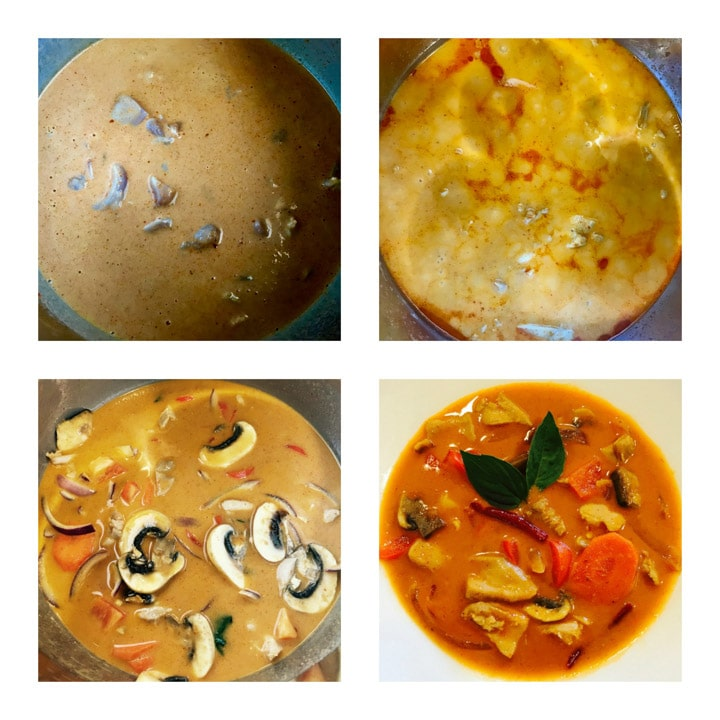 Panang Curry Chicken Instant Pot Pressure Cooker Steps