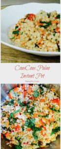CousCous Pulao in Instant Pot Pressure Cooker