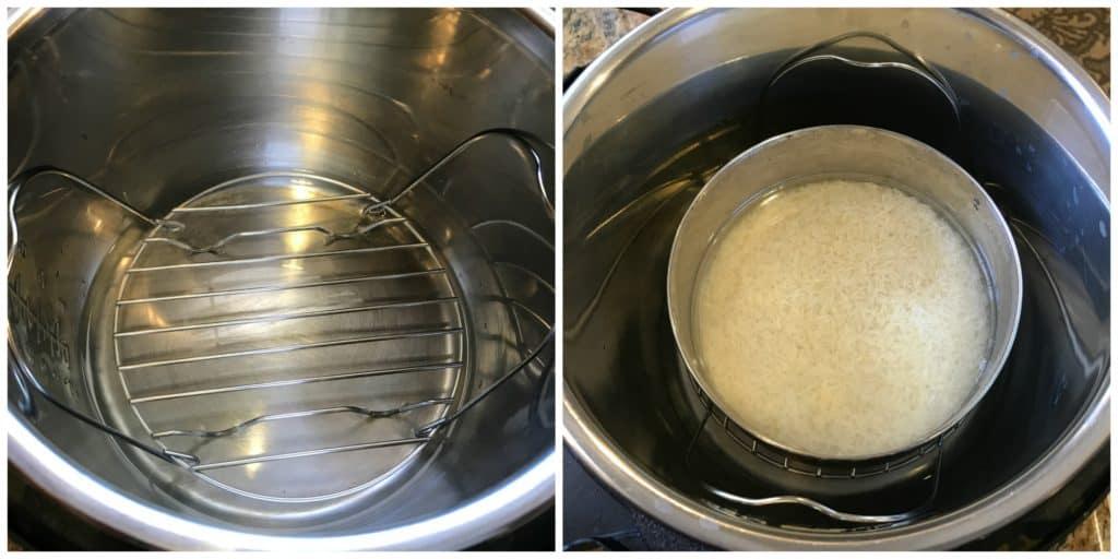 Basmati Rice Pot-in-Pot Instant Pot Pressure Cooker Steps