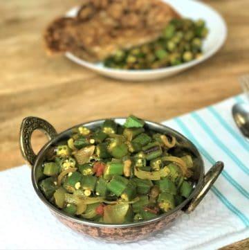 Okra Bhindi Masala Instant Pot Pressure Cooker 1