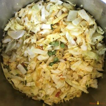 Cabbage Peas Stir Fry Patta Gobi Matar Instant Pot Pressure Cooker - Step 3
