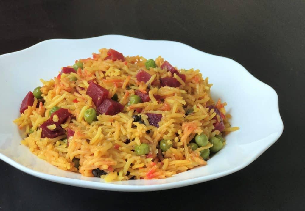 Beet Pulao Rice Instant Pot Pressure Cooker