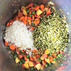 Masala Khichdi Instant Pot Pressure Cooker Steps