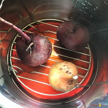 Instant Pot Beets - After steaming